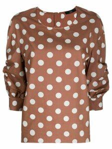 Steffen Schraut polka-dot print blouse - Brown