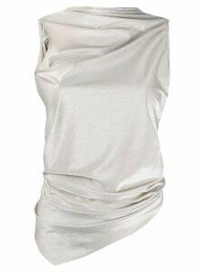 Rick Owens Lilies ruched asymmetric vest - NEUTRALS