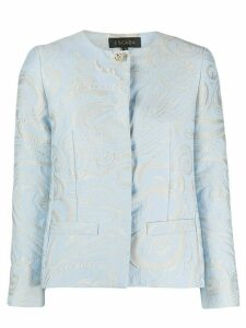 Escada paisley print fitted jacket - Blue