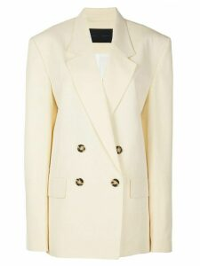 Proenza Schouler oversized double breasted blazer - Yellow