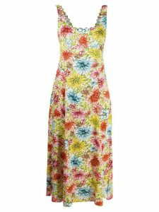 Alexa Chung floral midi dress - PINK