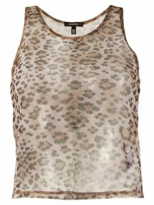 R13 sheer leopard top - NEUTRALS