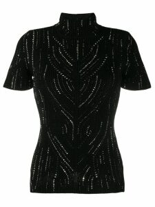 Ermanno Scervino rhinestone-embellished knitted top - Black