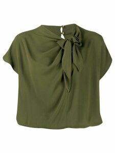 Pinko Kabira bow-neck blouse - Green