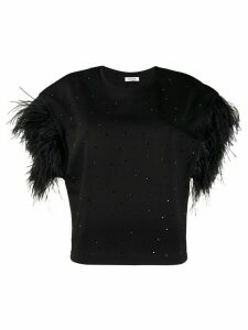 P.A.R.O.S.H. feather-sleeve sweatshirt - Black
