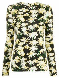 Loewe daisy-print long sleeved T-shirt - Black