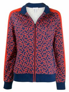 Escada Sport printed zip-up jumper - Red