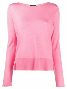 Roberto Collina lightweight crew neck jumper - PINK