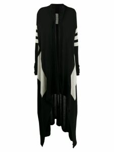 Rick Owens longline knitted cardigan - Black