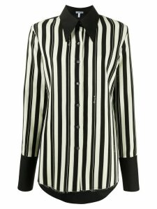 Loewe raw-hem striped shirt - Black