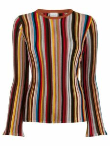 Paul Smith striped fitted jumper - Grey