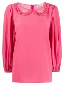 RedValentino tulle panels Peter Pan blouse - PINK