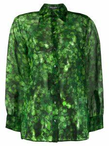 Dolce & Gabbana clover print shirt - Green