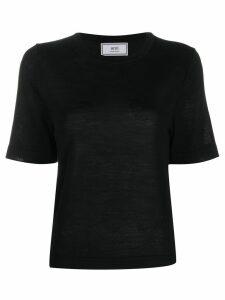 Ami Paris crewneck short sleeve jumper - Black