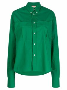 Plan C oversized long-sleeve shirt - Green