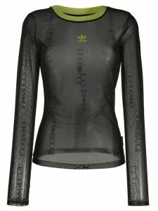 Fiorucci x Adidas sheer sweatshirt - Black