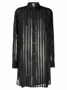 Loewe striped fil coupé longline shirt - Black