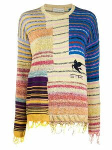 Etro striped panelled jumper - Yellow