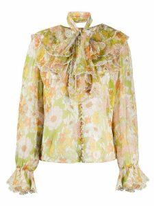 Zimmermann Super Eight silk blouse - Green