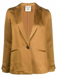 Semicouture slim fit blazer - Yellow