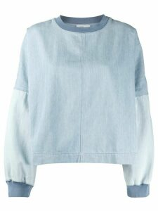 Closed patchwork denim sweatshirt - Blue