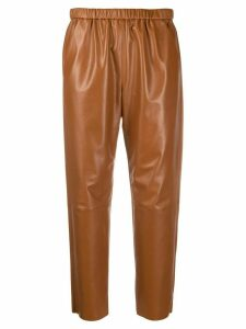 Drome tapered leather trousers - Brown