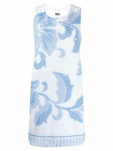 Mm6 Maison Margiela floral towelling shift dress - Blue