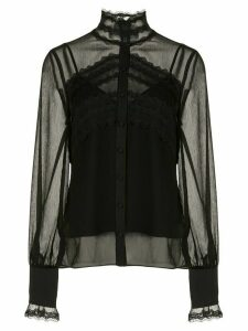 Alexis Maia lace panel blouse - Black