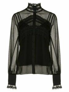 Alexis Maia lace panel blouse - Black