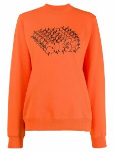 Diesel cotton logo sweatshirt - ORANGE