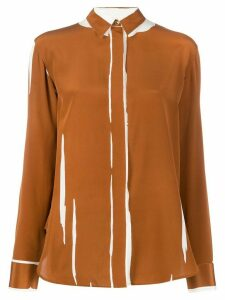 Paul Smith printed crepe de chine shirt - Brown