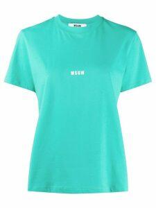 MSGM mini logo-print T-shirt - Green