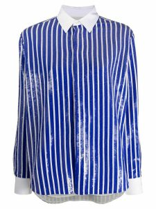 Polo Ralph Lauren long sleeve sequin-embellished striped short - Blue