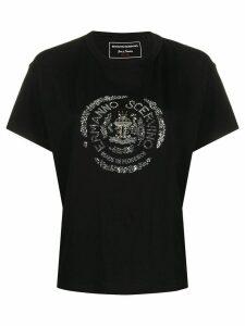 Ermanno Scervino crystal logo embellished T-shirt - Black