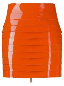 Dsquared2 panelled skirt - ORANGE