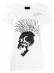 Thom Krom mohawk skull print T-shirt - White