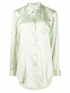 Acne Studios embossed floral shirt - Green