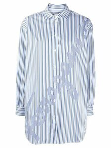 Salvatore Ferragamo oversized signature striped shirt - White