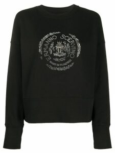 Ermanno Scervino crystal logo embellished sweatshirt - Black