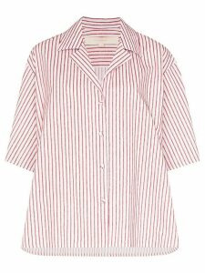 By Any Other Name striped strap sleeve shirt - PINK