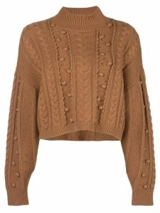 Nicholas chunky knit jumper - Brown