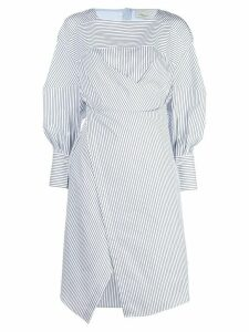 3.1 Phillip Lim striped overlap midi dress - Blue