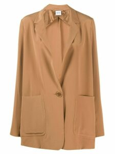 Aspesi silk single-breasted blazer - Brown