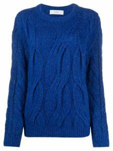 Pringle of Scotland cable stitch jumper - Blue