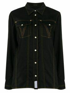 Versace Medusa glitter-embellished shirt - Black