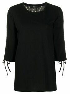 Steffen Schraut polka dot print sheer back blouse - Black