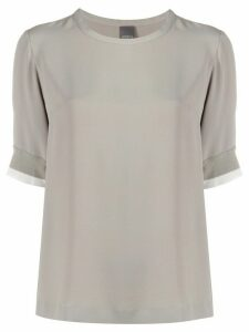 Lorena Antoniazzi short sleeved blouse - Grey