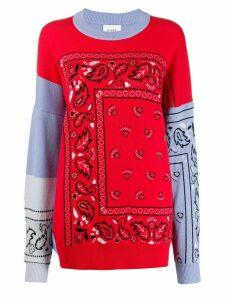 Barrie bandana pattern oversized jumper - PURPLE