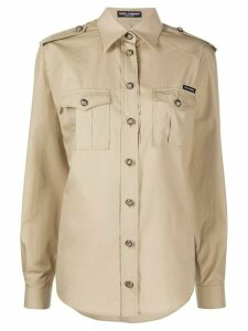 Dolce & Gabbana Safari oversized shirt - NEUTRALS