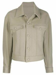Ami Paris boxy fit jacket - NEUTRALS